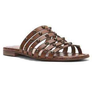 Sam Edelman Brea 2 Studded Slide Sandals Brown 7.5